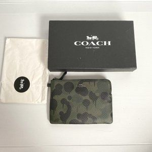 COACH Camouflage Print Small Purse leather